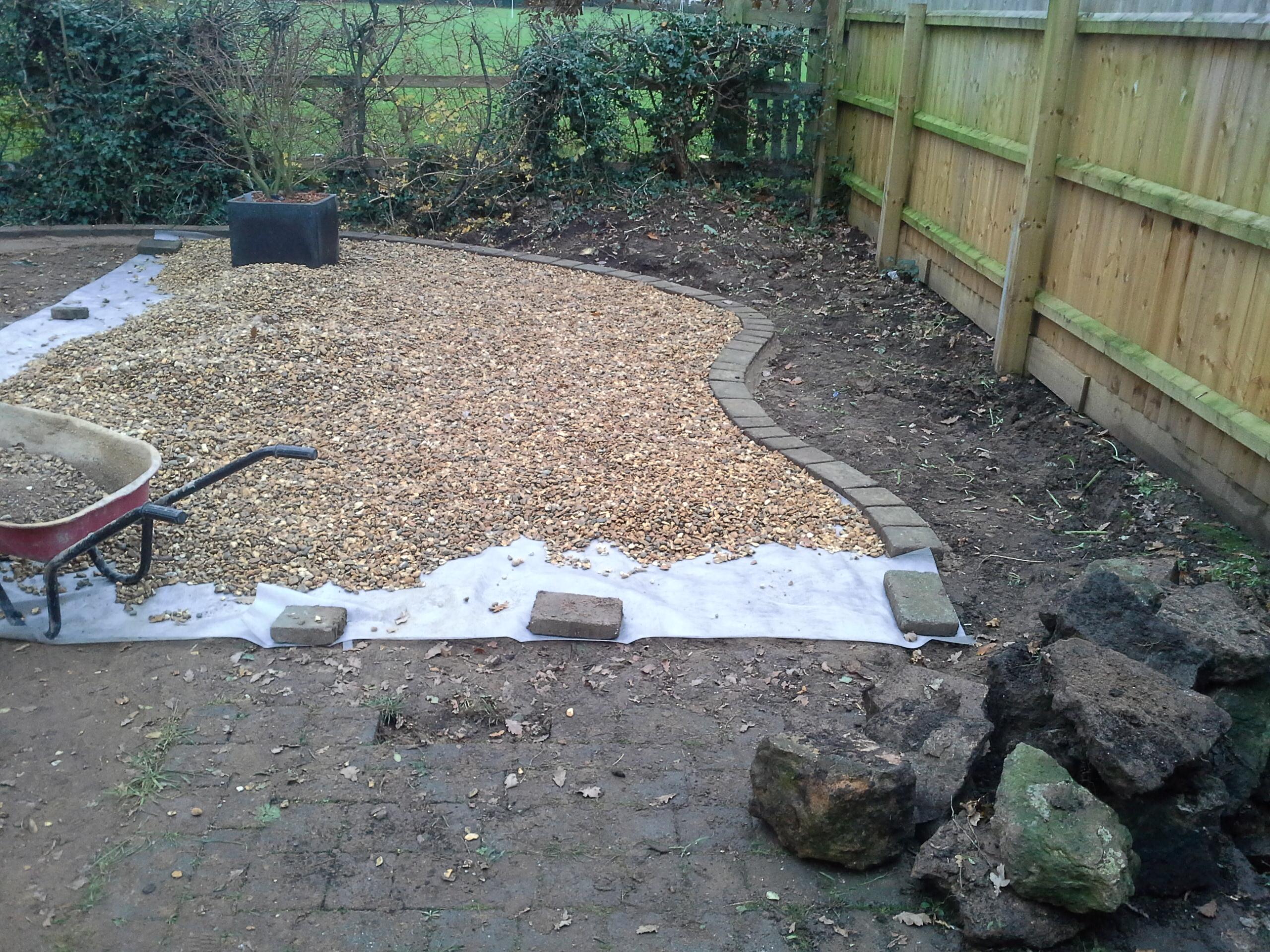 Natural Sandstone And Gravel Garden
